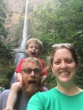 Family at Multnomah Falls